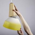 Lampe Eikon 2 , Schneid Enlightment blanche et jaune 2