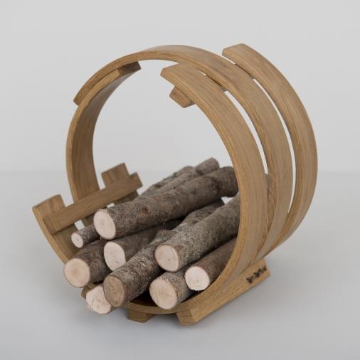 Panier buches tom raffield greenshopin - Panier a bois pour cheminee ...
