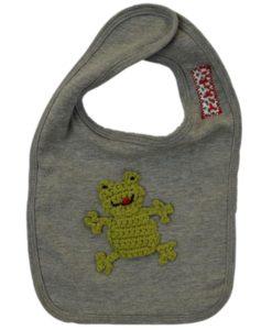 Bavoir gris grenouille, Rikiki kids