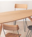 Table Ted Masterchief, chêne, Greyge