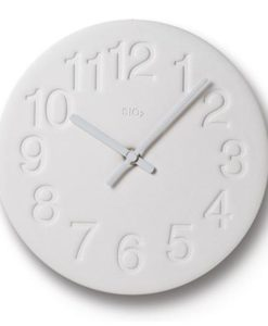 Horloge Earth Lemnos blanche